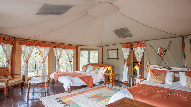 Tipilikwani Mara Camp Bedroom tent