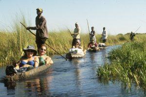 Mokoro Canoe Rides in Okavango Delta Botswana - Cheetah Safaris
